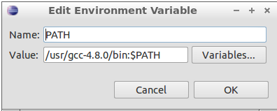 Figure 11: PATH environment variable setting